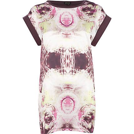 Pink mirrored marble print t-shirt £20.00