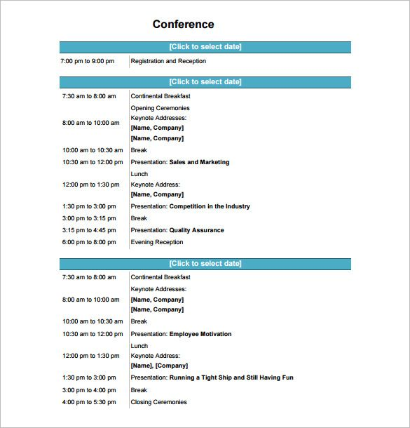 Seminar Itinerary Template  Zoe Shu