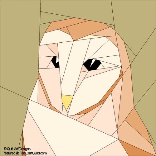 Owl Paper Piecing Quilt Pattern :: together w lots of adorable quilt blocks for other woodland & farm animals and flowers.  cheap/free designs.