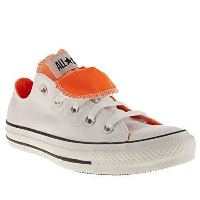 converse double tongue white and orange...live in these