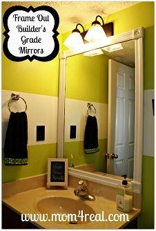 Hometalk :: DIY Bathroom Mirrors :: Melissa-TheHappierHomemakers clipboard on Hometalk
