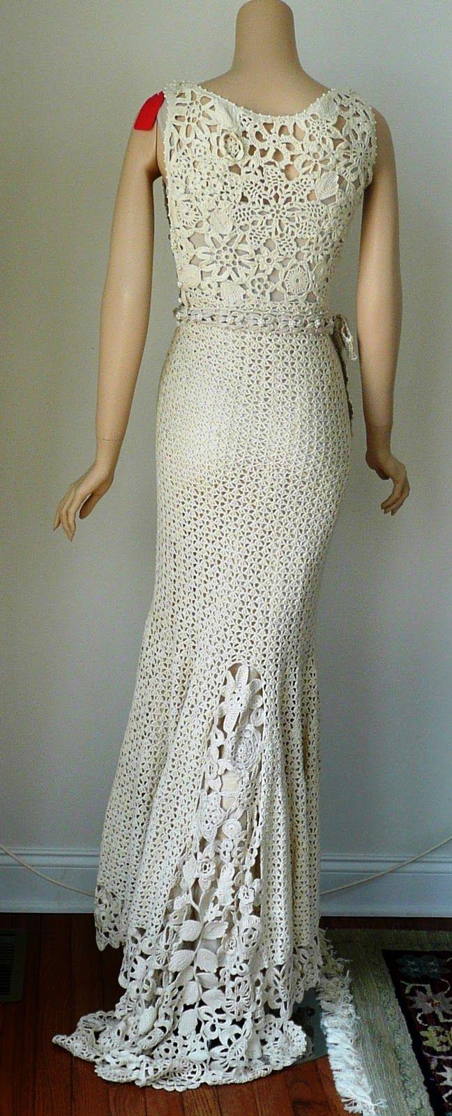 Crochet Pattern Wedding Dress Crochet Guild Of America 2010 Design
