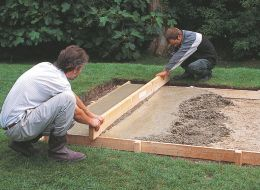 Mum & Dad SHED - step 6 of laying a concrete shed base