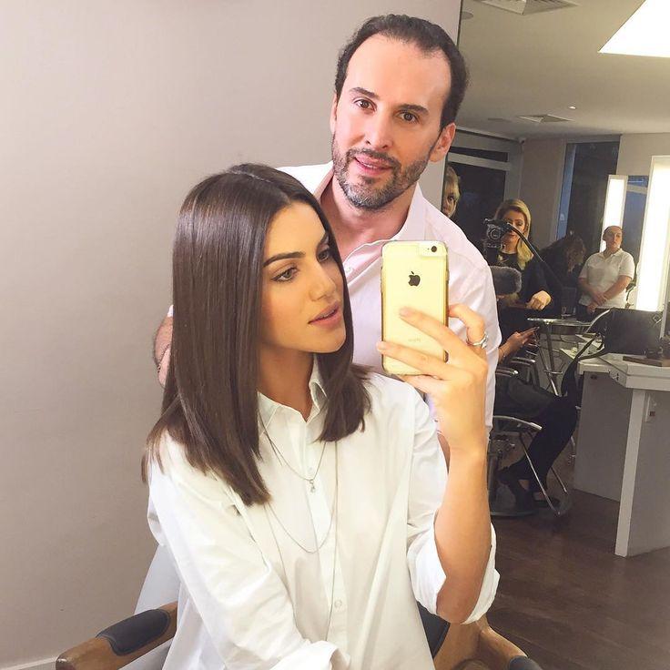 """Camila Coelho no Instagram: """"New hair cut with the best @blogdopro ❤️ ---------- Corte novo para minha próxima fashion trip! Com o queridíssimo @blogdopro ❤️ AMOOOO!"""""""