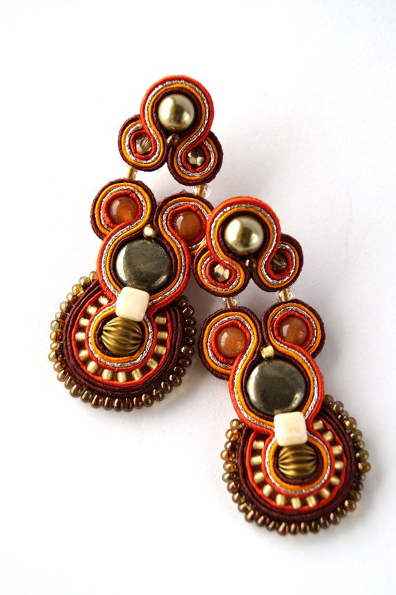 Summer collection. Soutache earrings.