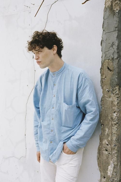 shop ethical sustainable & ethical clothing by Seeker x Retriever Poet Shirt No.2: Sky