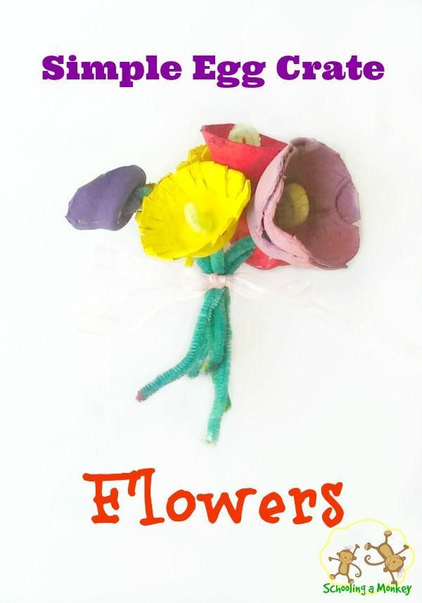 Spring Flower Craft: Egg Crate Flowers