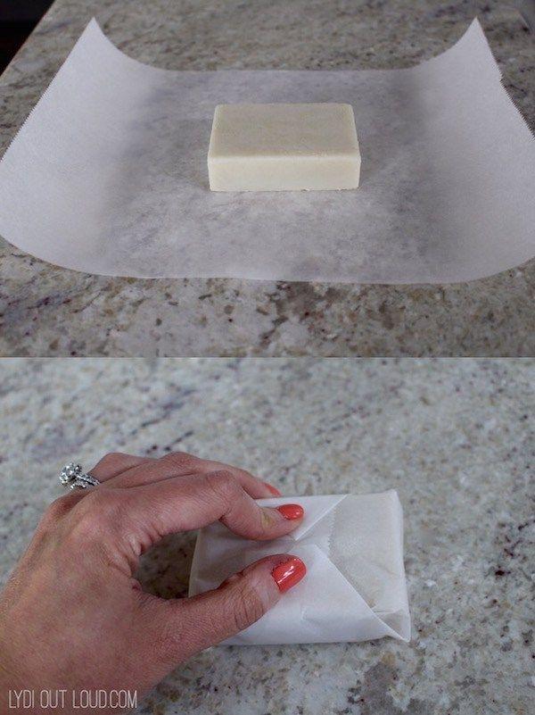 DIY lotion bars wrap