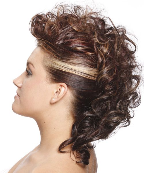 Amazing 1000 Ideas About Curly Mohawk Hairstyles On Pinterest Curly Hairstyles For Women Draintrainus