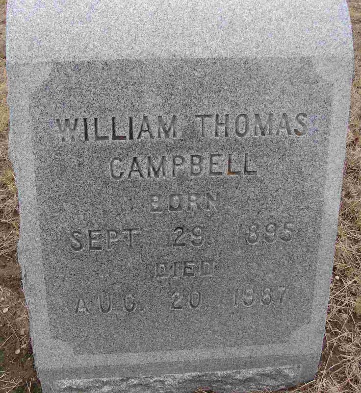 William Thomas Campbell - possible great great grandfather
