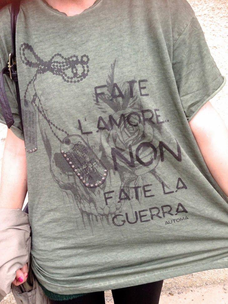 #military #tshirt #fashion #streetwear #style #girl #blogger #cool  THE FASHIONAMY by Amanda: Make Love no War by Automa Style