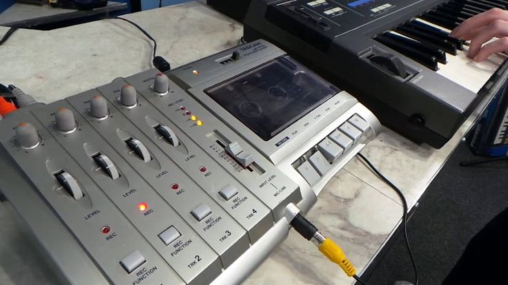 How oldschool multi-track recording works.  Tascam 4-track