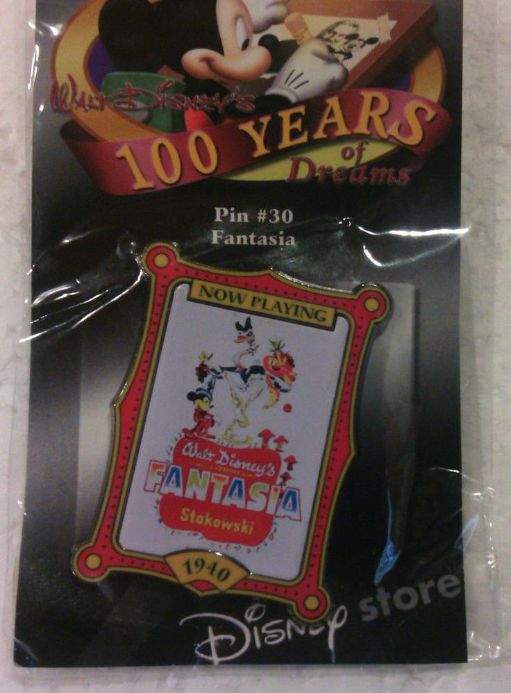 Walt Disney's 100 Years of Dreams Pin #30 Fantasia Disney Trading Pin #Disney