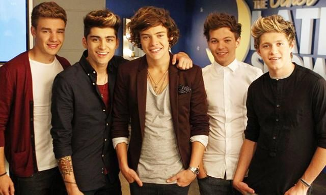 One Direction. From left to right: Liam Payne, Zayn Malik, Harry Styles,Louis Tomlinson, Niall Horan