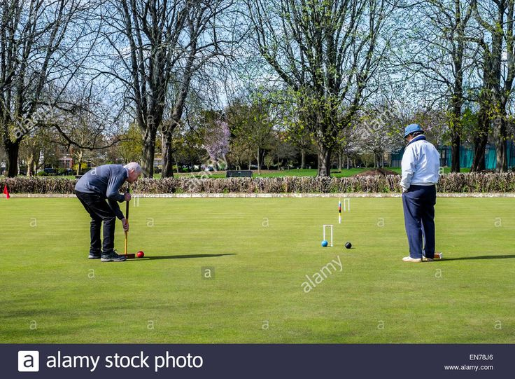 Croquet in Lammas Park Ealing Stock Photo, Royalty Free Image: 81909694 - Alamy