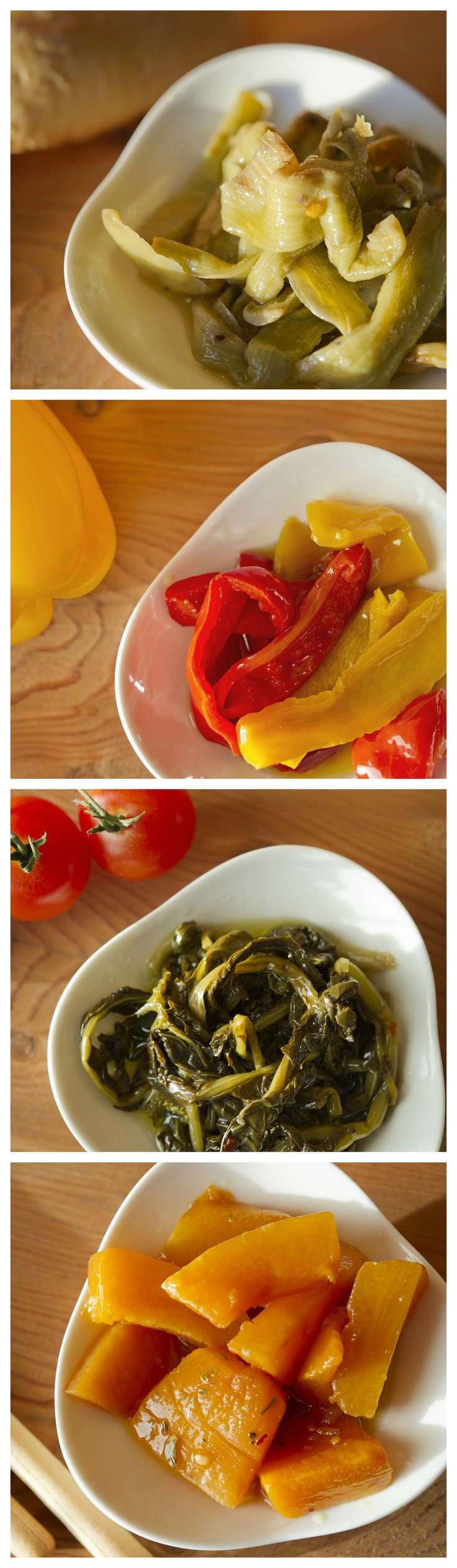 create simple and easy #starters or #sides with fresh seasonal #vegetables #preserved in #jars