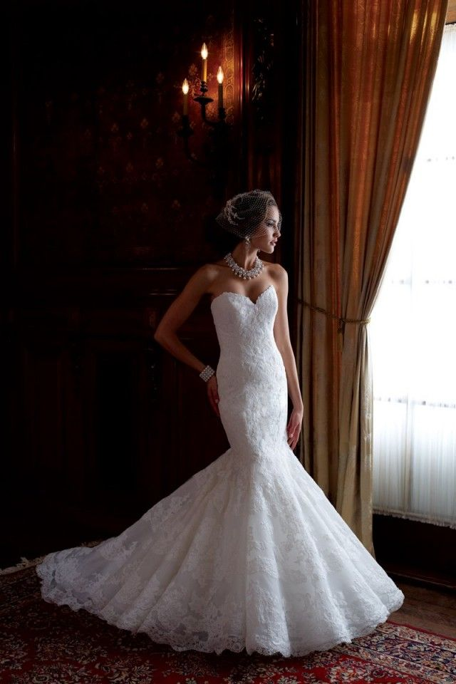 All the things I want in a wedding dress; mermaid style, sweetheart neckline & lace! This is definitely the PERFECT wedding dress.