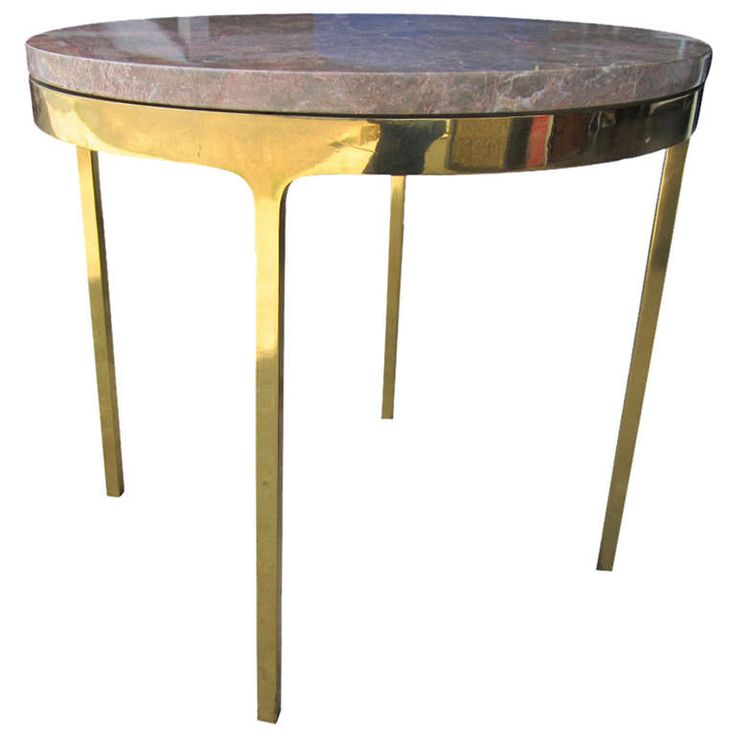 Vintage Zographos Brass and Marble Side Table   From a unique collection of antique and modern side tables at https://www.1stdibs.com/furniture/tables/side-tables/