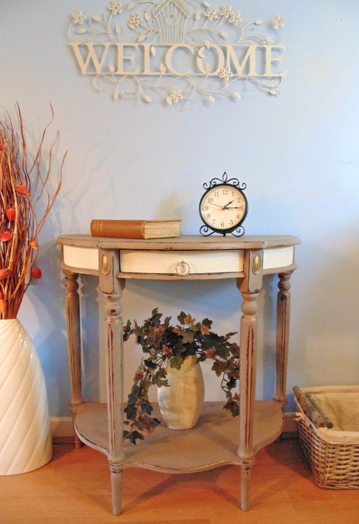 Demi Lune Half Moon Console Table Painted In Annie Sloan