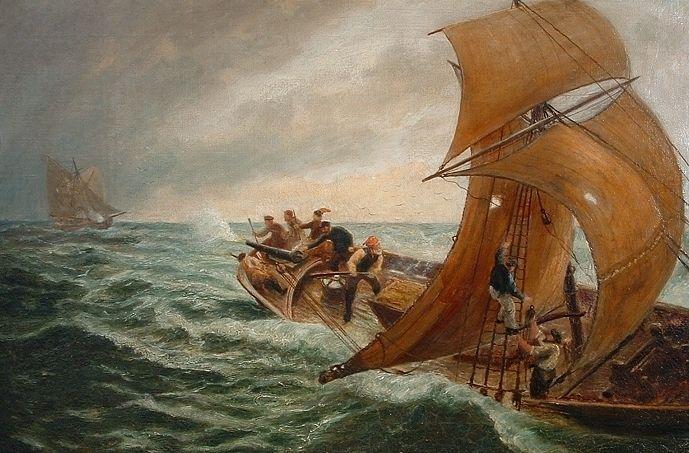 cornish smuggler 19th century painting - Google Search