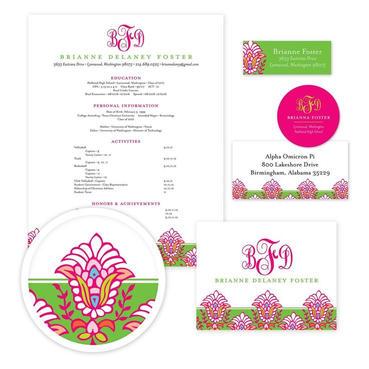 bright garden sorority packet our recruitment information packets include designs for your resume cover letter mailing labels return address labels - Sample Sorority Resume
