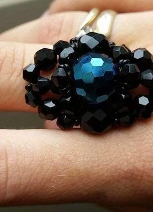 Kup mój przedmiot na #vintedpl http://www.vinted.pl/akcesoria/bizuteria/16698541-pierscionek-koraliki-recznie-robiony-czarny-z-niebieskim-oczkiem