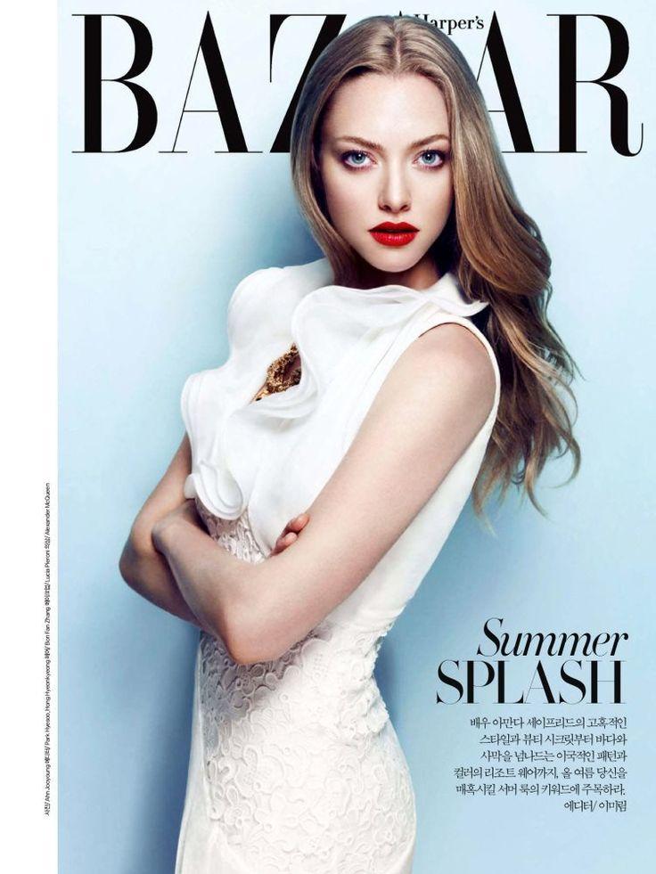 Amanda Seyfried star the cover of Harpers Bazaar Korea july 2013 by Ahn Jooyoung