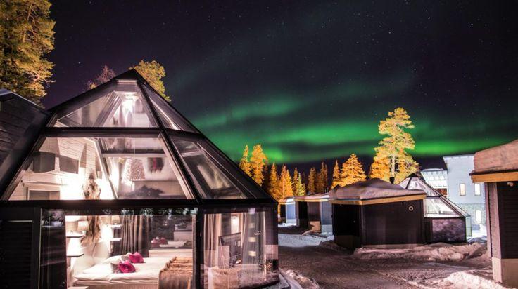 Santa's Igloos Arctic Circle in Santa Claus Village -Rovaniemi, Lapland, Finland