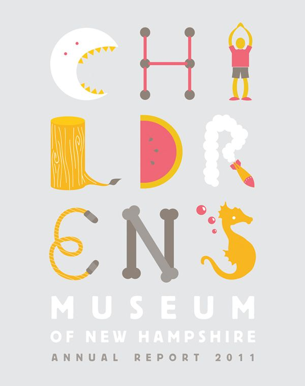Childrens Museum of NH Annual Report by Nicole Kraieski, via Behance