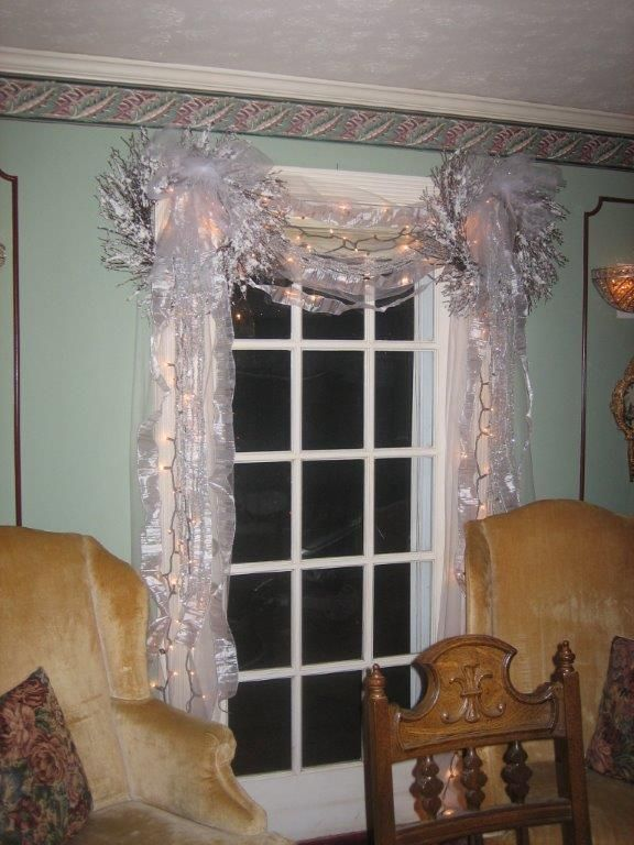French doors in dining room christmas decorations james for French door decorating ideas