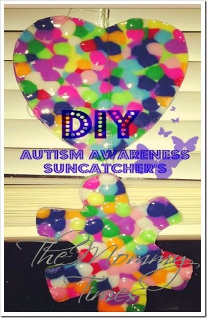 17 best images about diy awareness on pinterest for Craft ideas for autistic students
