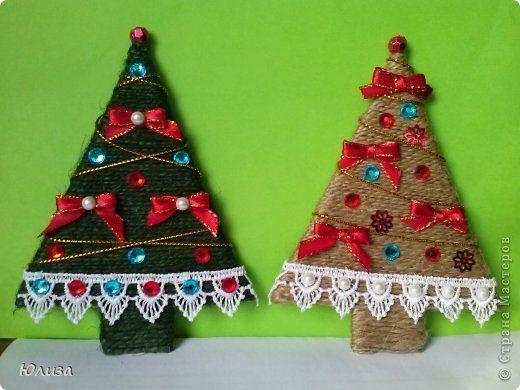 Copaci produs Meșteșug Masterat Clasa de Anul Nou Crăciun, magneți Povtoryushki margele de cafea magneți paiete Soutache maduva panglica 9 fotografii