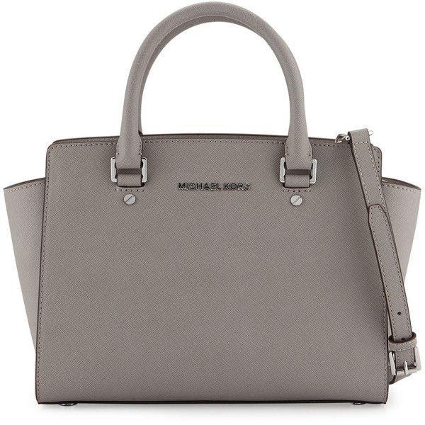 cb6e7873a302 MICHAEL Michael Kors Selma Medium Top-Zip Satchel Bag ( 298) ❤ liked on Polyvore  featuring bags