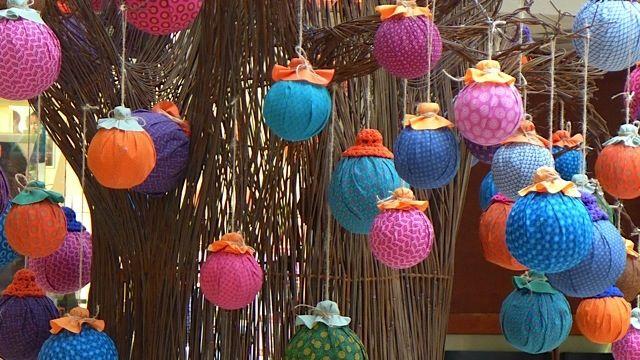 Shweshwe decorations on a Baobab Tree: celebrating the Festive Season in Africa.