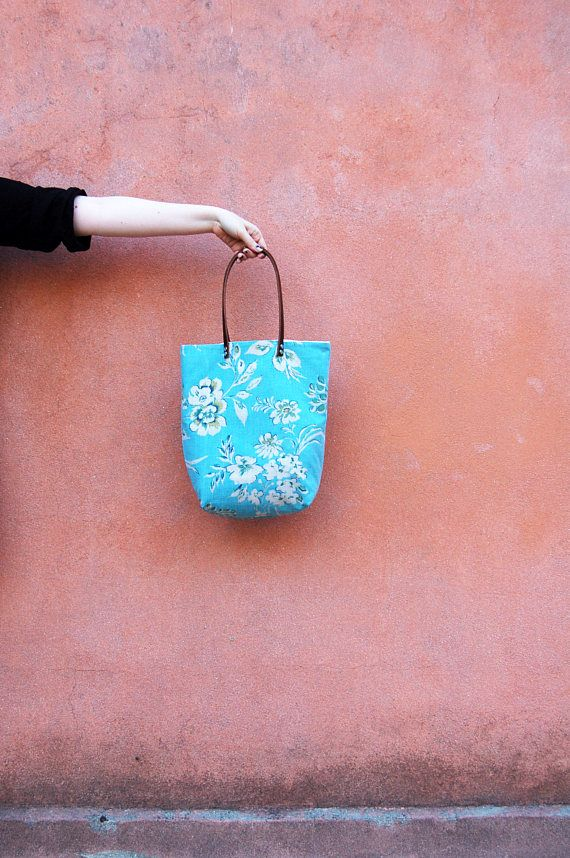 Boho Chic Floral Tote Bag, Women Tote Bag Leather Handles, Eco Friendly Gifts, Gift for Women, Birthday Gift for Her, Bohemian Summer Tote