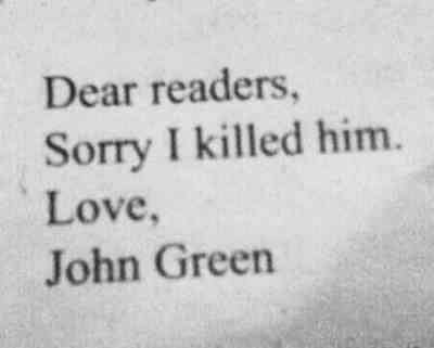 John Green. I fucking hate you SO MUCH that I love you. #tfios
