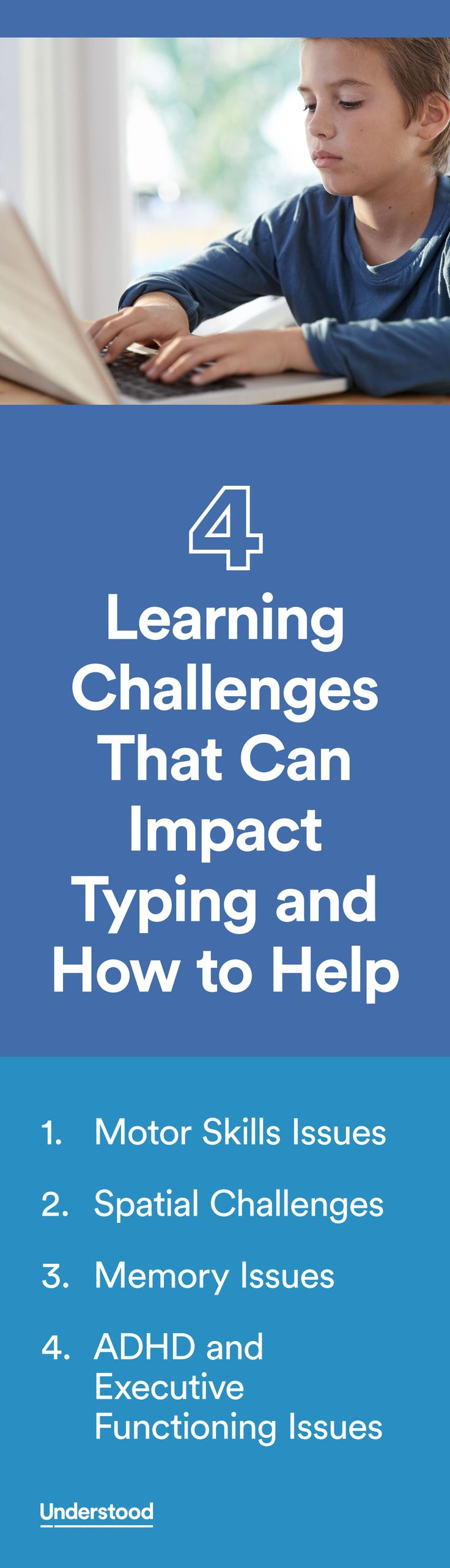 Many kids with learning and attention issues prefer to type rather than write by hand because typing makes writing easier. But that's not always the case for kids with certain challenges, includingADHDandmotor skills issues.