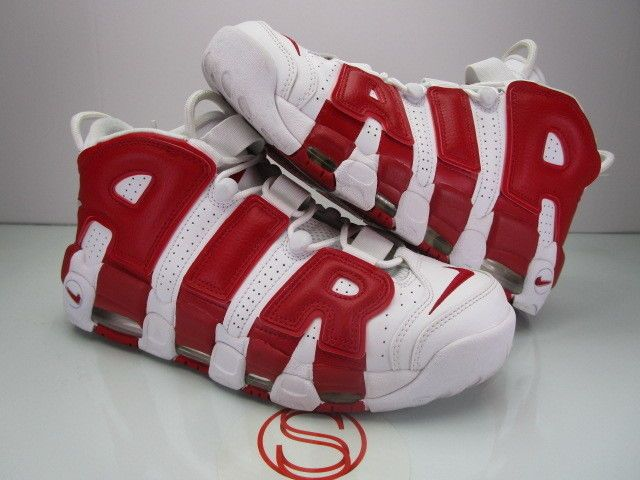 4ec89071ee9cc Nike Air More Uptempo WHITE RED 9.5 #fashion #clothing #shoes ...
