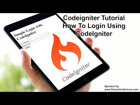 how to create website using codeigniter