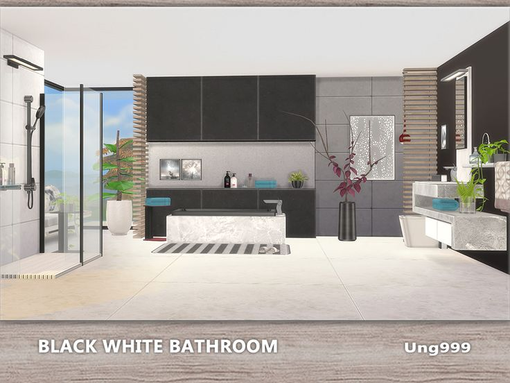 Schön The Sims Resource: Black White Bathroom By