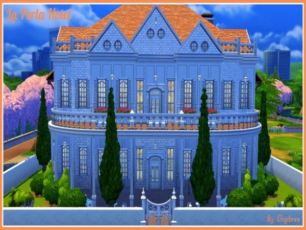 The Sims Resource: La Perla Hotel by Gigibree • Sims 4 Downloads