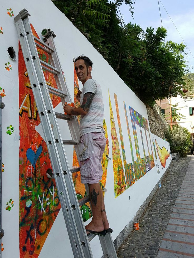 Realizzazione murale a Badalucco