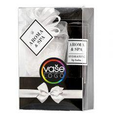Krásný reklamní balíček balzámu na rty a koupelové soli ve vašem designu.