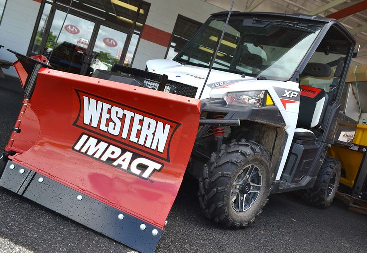 New Western Impact UTV Plow - Low Prices at AJ's Truck & Trailer Center. www.ajtnt.com