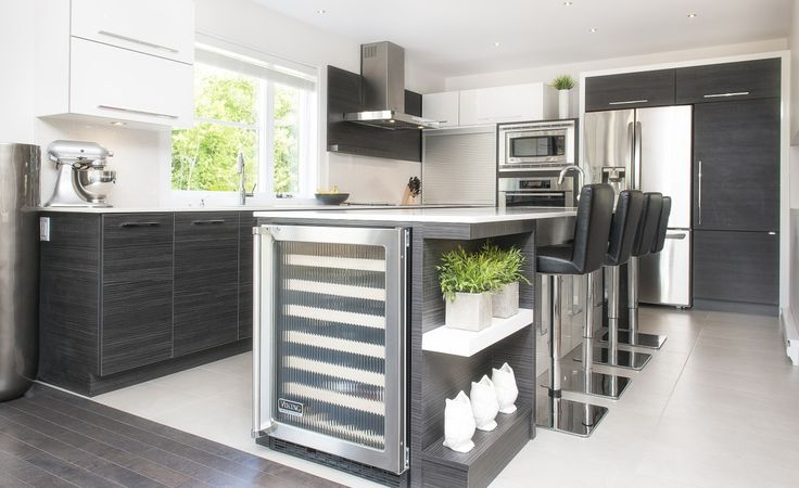 cuisine contemporaine distingu e armoires de cuisines. Black Bedroom Furniture Sets. Home Design Ideas