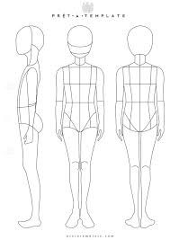 Image result for body outline template plus size