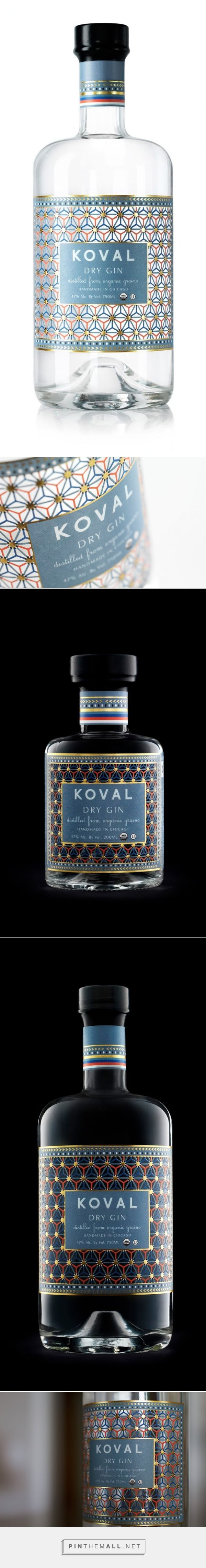 KOVAL Dry #Gin #packaging by Dando Projects - http://www.packagingoftheworld.com/2014/12/koval-dry-gin.html
