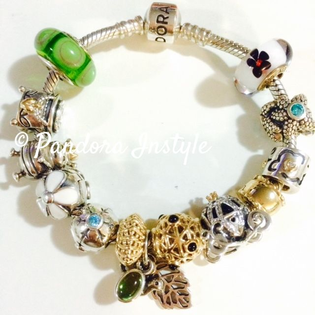 Love these a goldies and green tone charms!  Australia based online store selling Authentic Pandora Brand New/ Pre-loved discount 15-30%OFF.