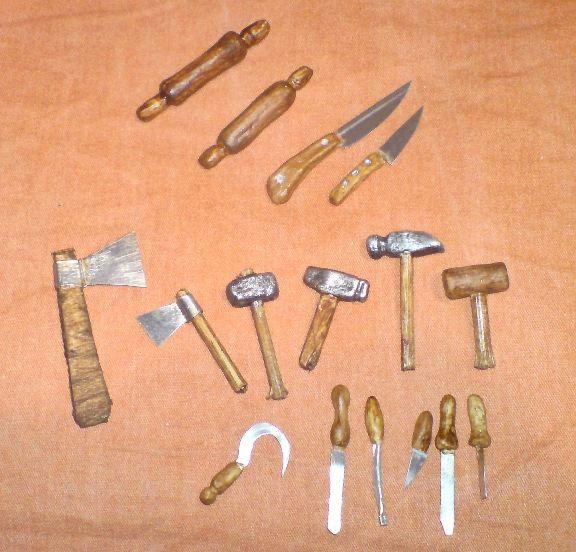 Herramientas de trabajo en miniatura - Miniature work tools