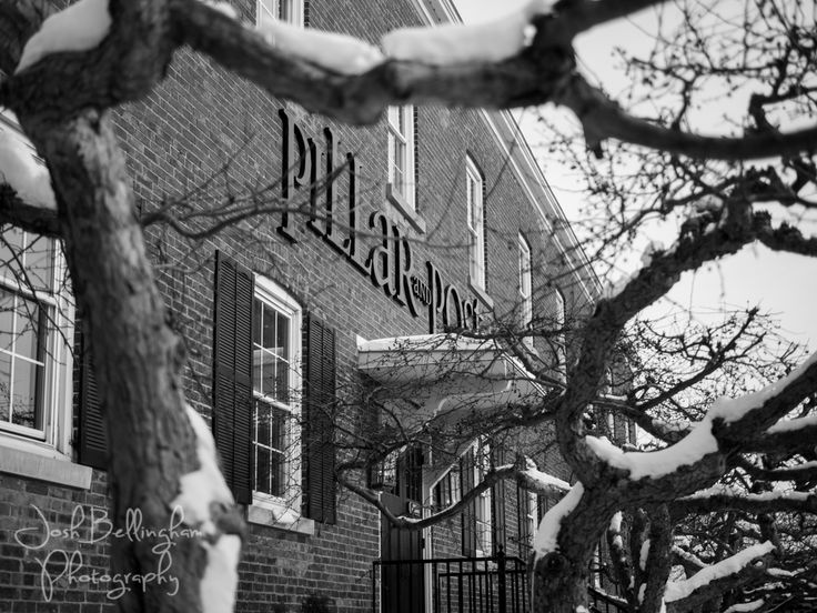 A snowy wedding day at the gorgeous and rustic Pillar and Post. One of Niagara's finest Hotel and Spas.  @vintagehotels  #JoshBellinghamPhotography www.joshbellingham.com